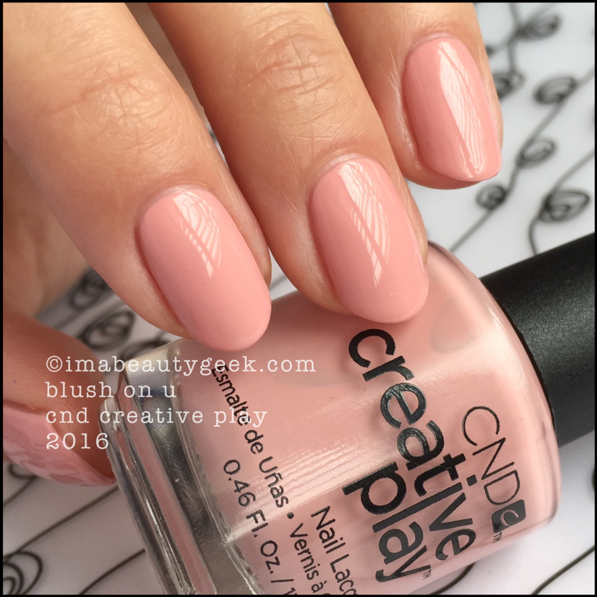 CND Creative Play Blush On U_CND Creative Play Nail Polish Swatches