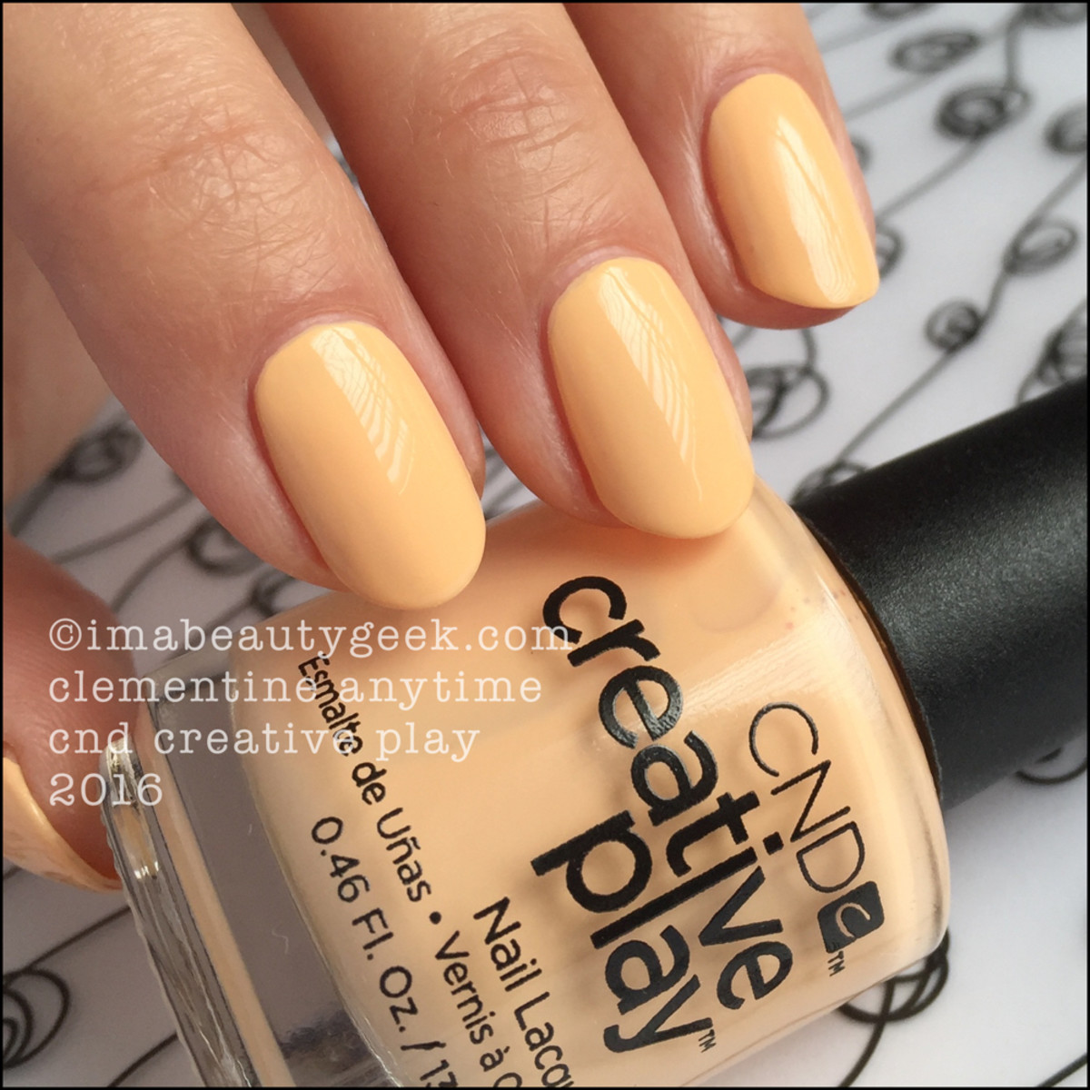 CND Creative Play Clementine Anytime_CND Creative Play Nail Swatches 2016
