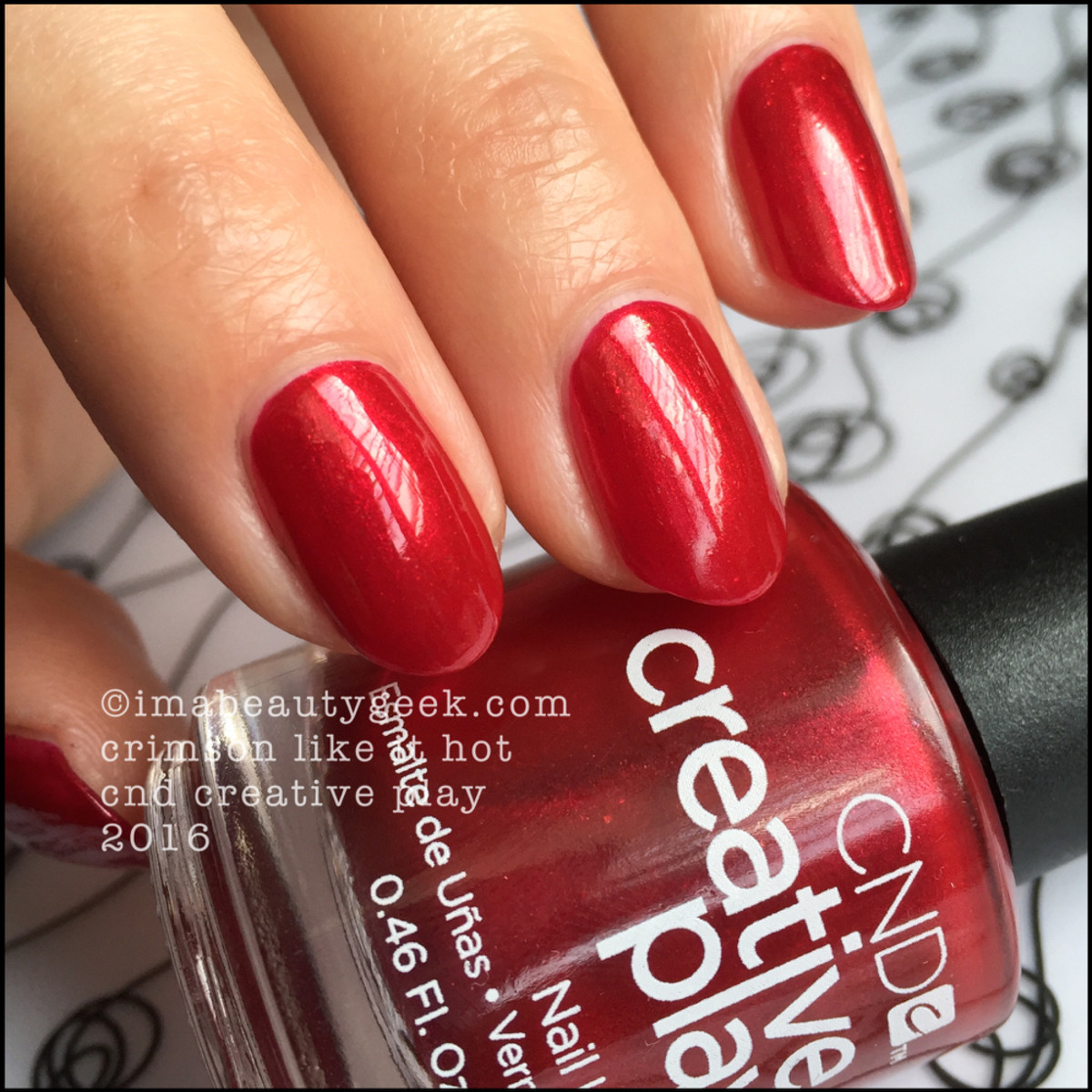 CND Creative Play Crimson Like it Hot_CND Creative Play Nail Polish Swatches 2016