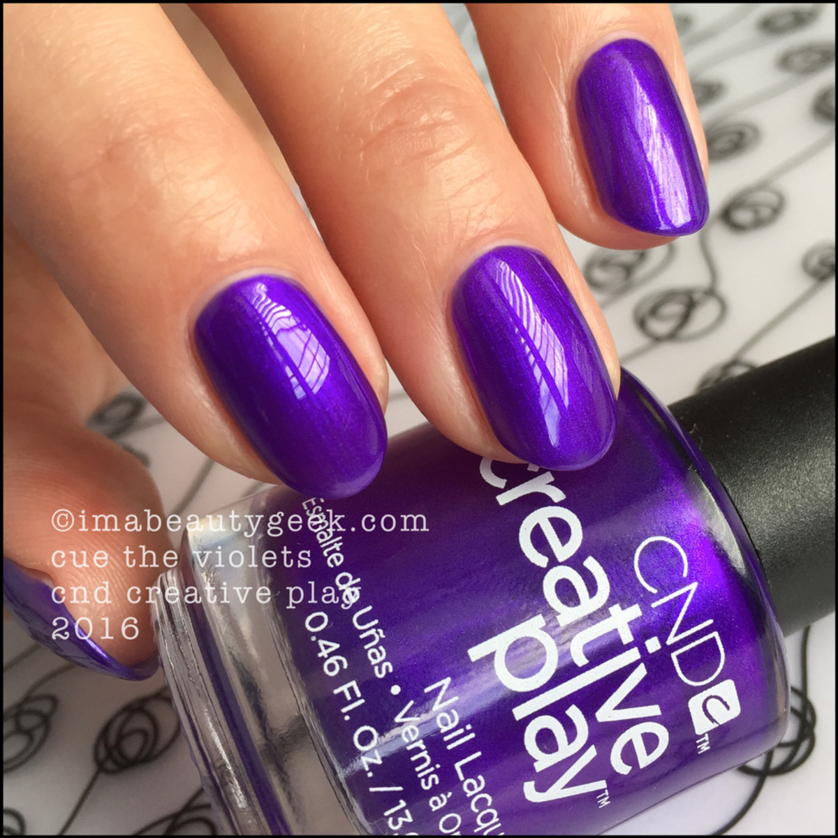 CND Creative Play Cue the Violets_CND Creative Play Nail Polish Swatches 2016