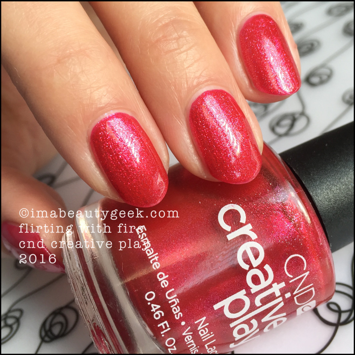 CND Creative Play Flirting with Fire_CND Creative Play Nail Polish Swatches