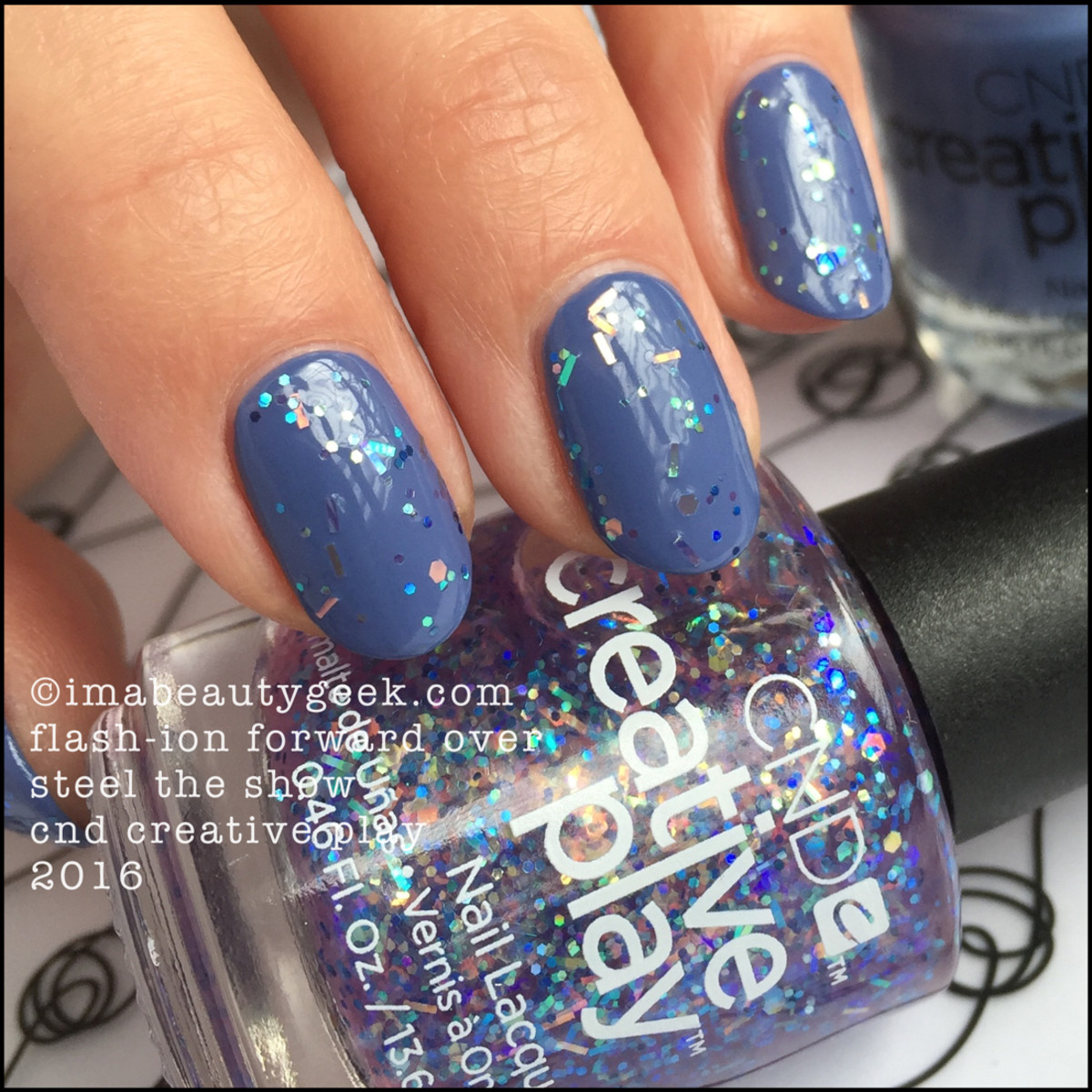 CND Creative Play Flashion Forward over Steel the Show_CND Creative Play Nail Lacquer Swatches
