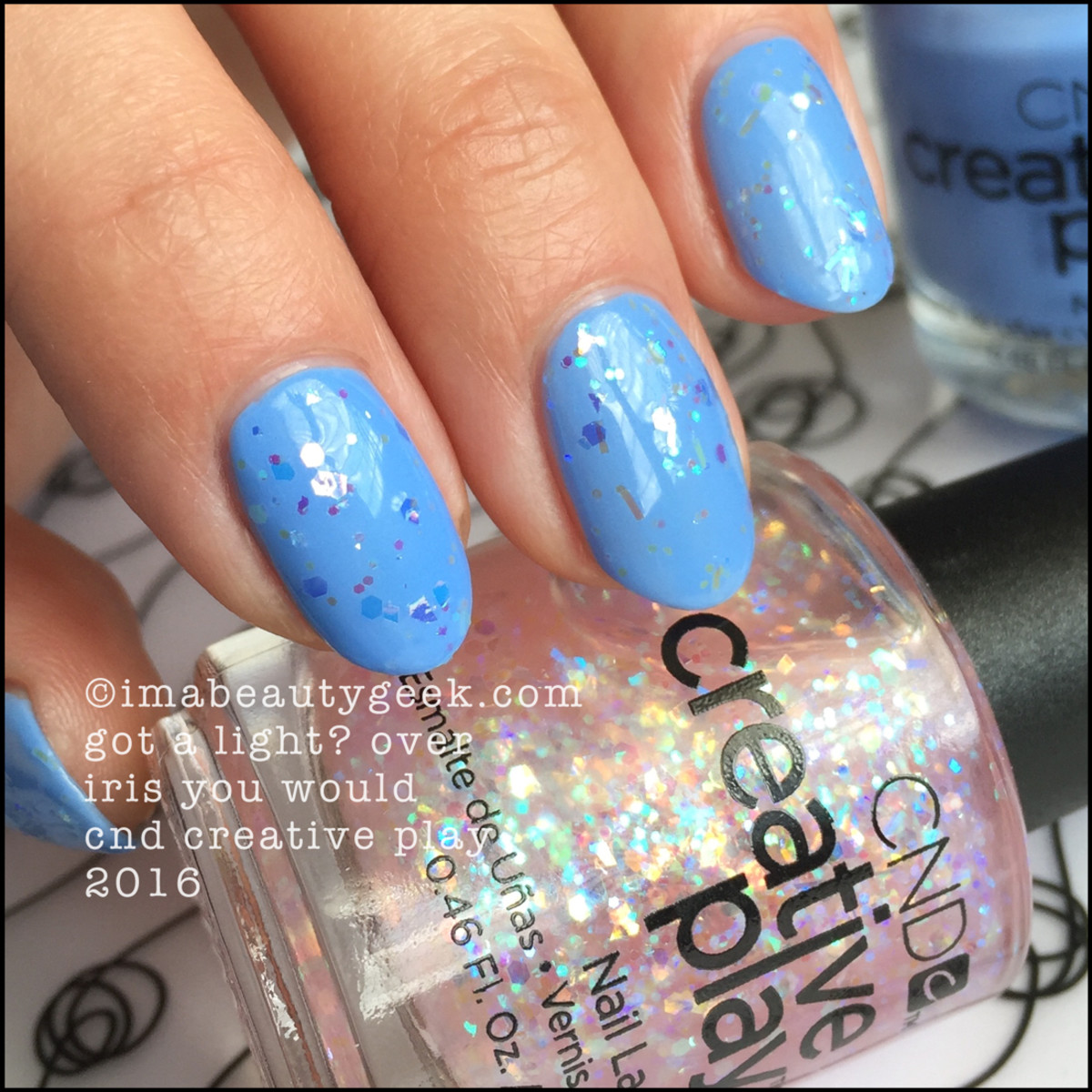 CND Creative Play Got a Light over Iris You Would_CND Creative Play Nail Polish Swatches
