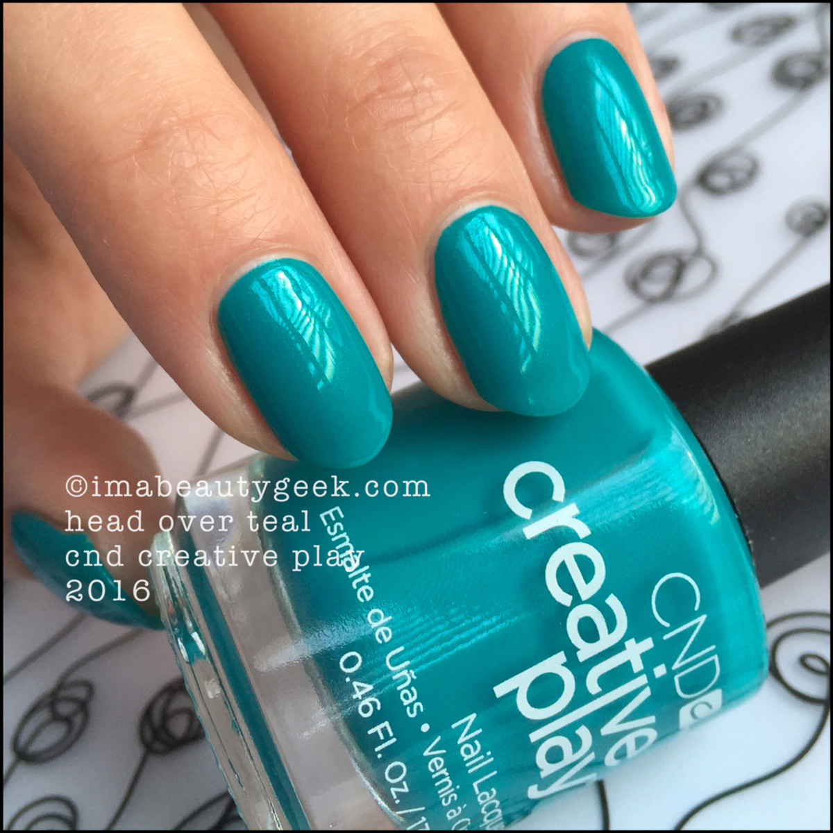 CND Creative Play Head Over Teal_CND Creative Play Nail Polish Swatches 2016