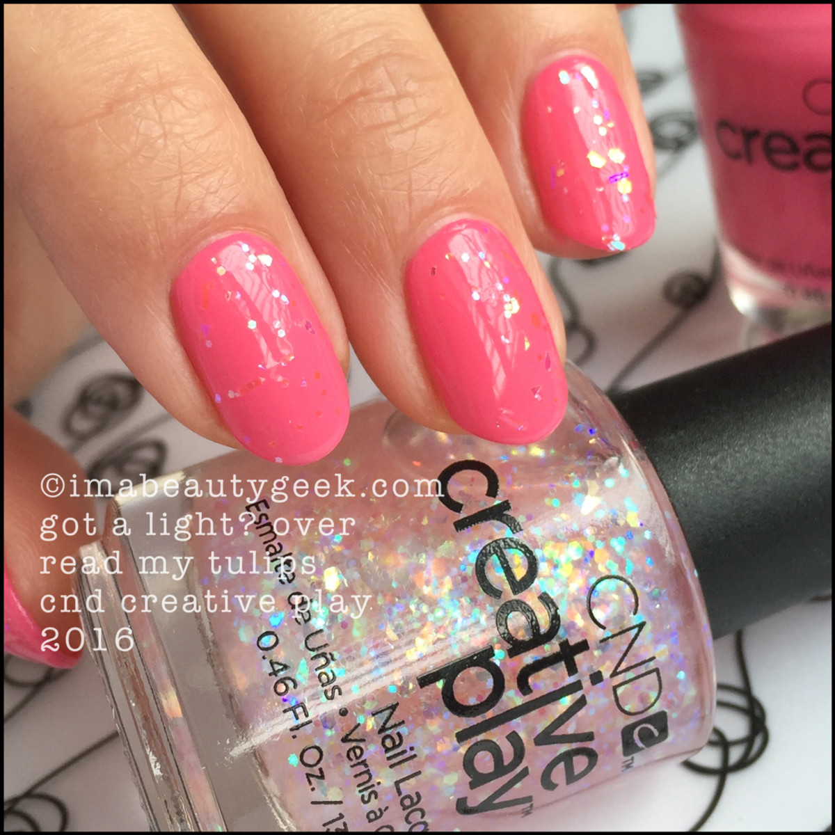 CND Creative Play Got a Light over Read My Tulips_CND Creative Play Nail Polish Swatches