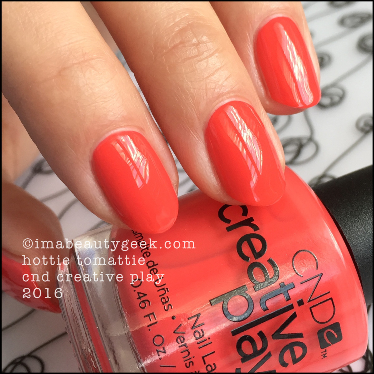 CND Creative Play Hottie Tomattie_CND Creative Play Nail Polish Swatches