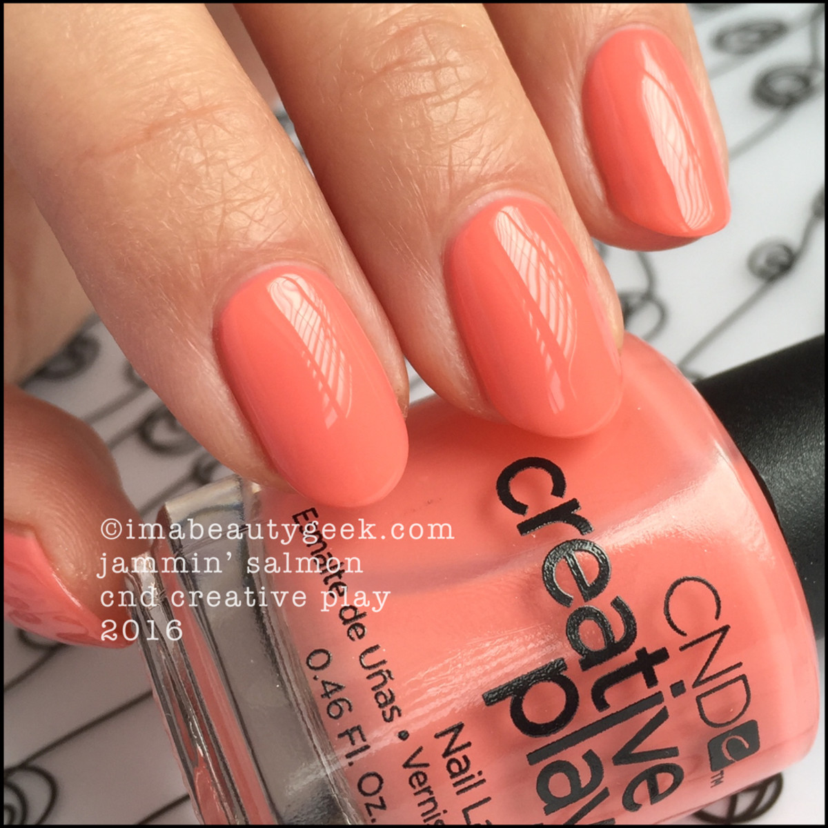 CND Creative Play Jammin Salmon_CND Creative Play Nail Polish Swatches