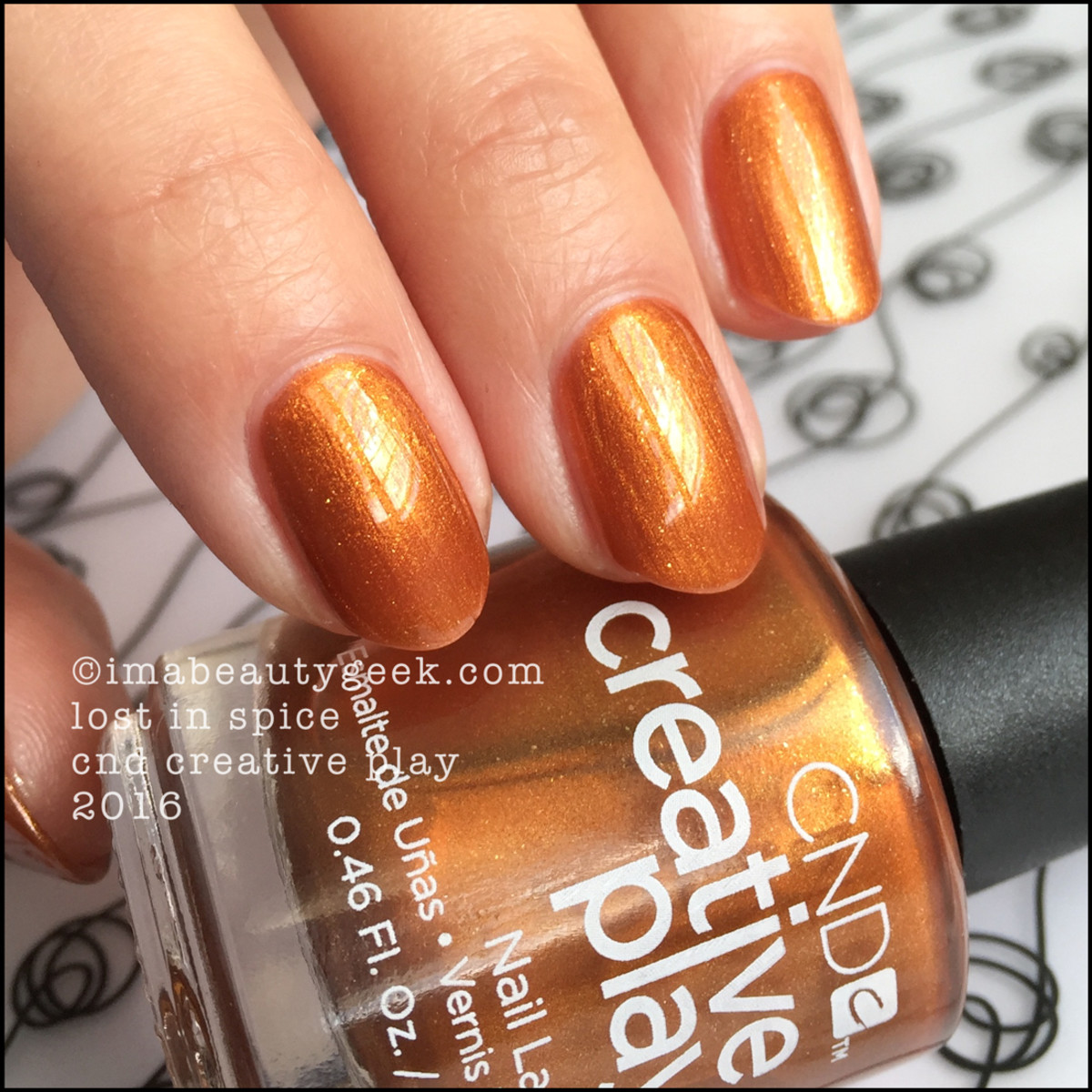 CND Creative Play Lost in Spice_CND Creative Play Nail Polish Swatches