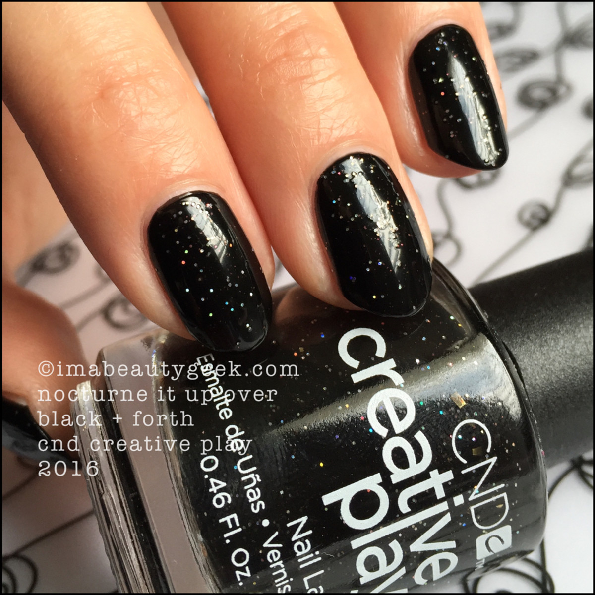 CND Creative Play Nocturne it Up over Black_CND Creative Play Nail Polish Swatches