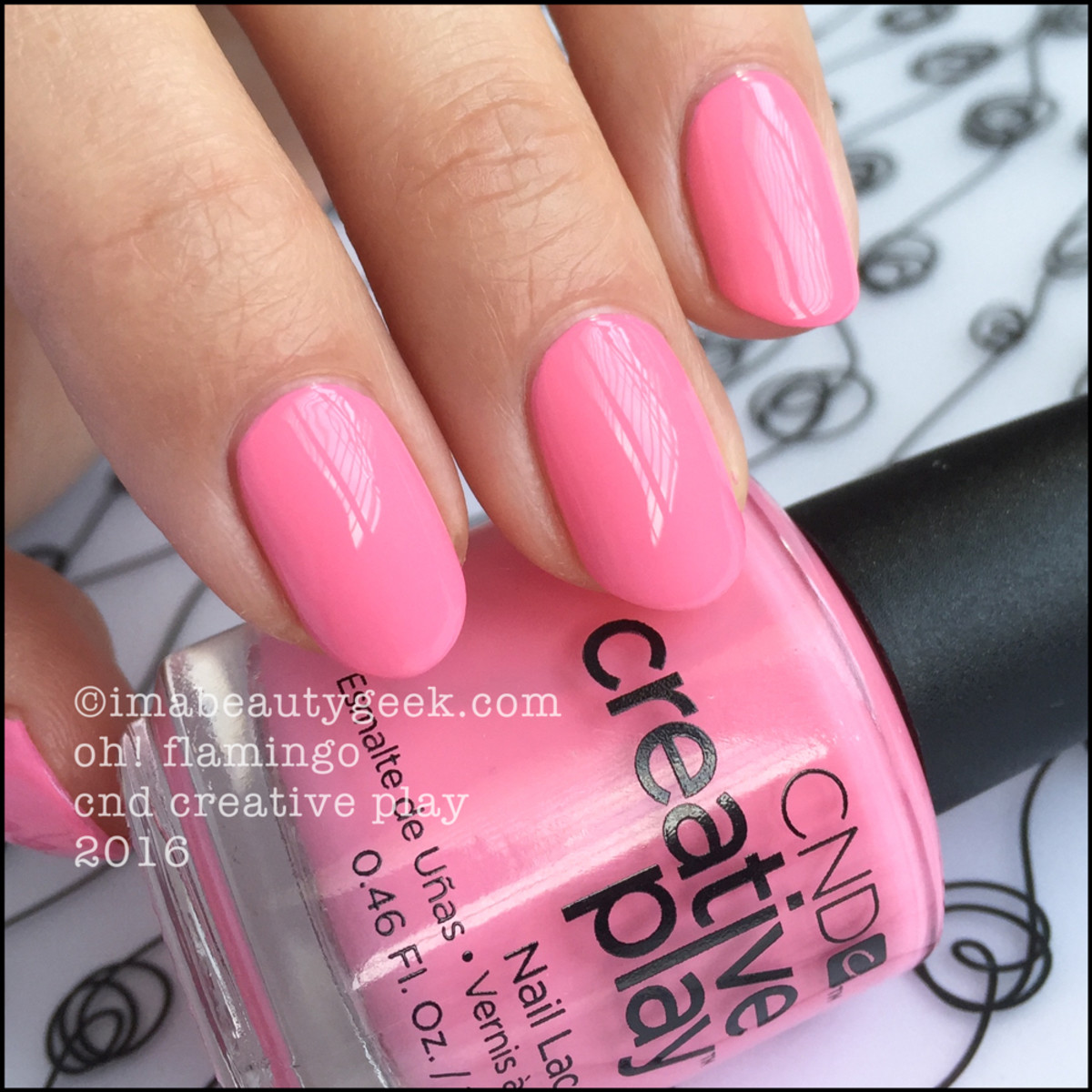 CND Creative Play Oh Flamingo_CND Creative Play Nail Lacquer 2016