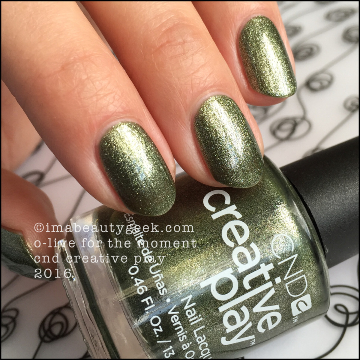 CND Creative Play Olive for the Moment_CND Creative Play Nail Polish Swatches