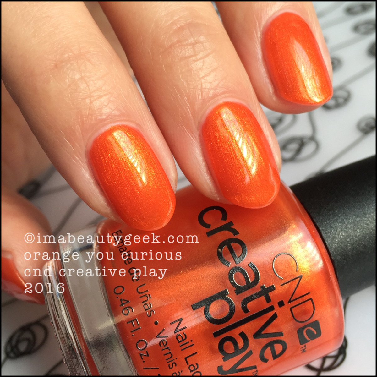 CND Creative Play Orange You Curious_CND Creative Play Nail Polish Swatches