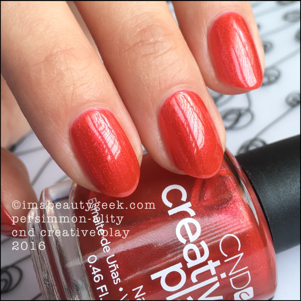 CND Creative Play Persimmonality_CND Creative Play Nail Polish Swatches