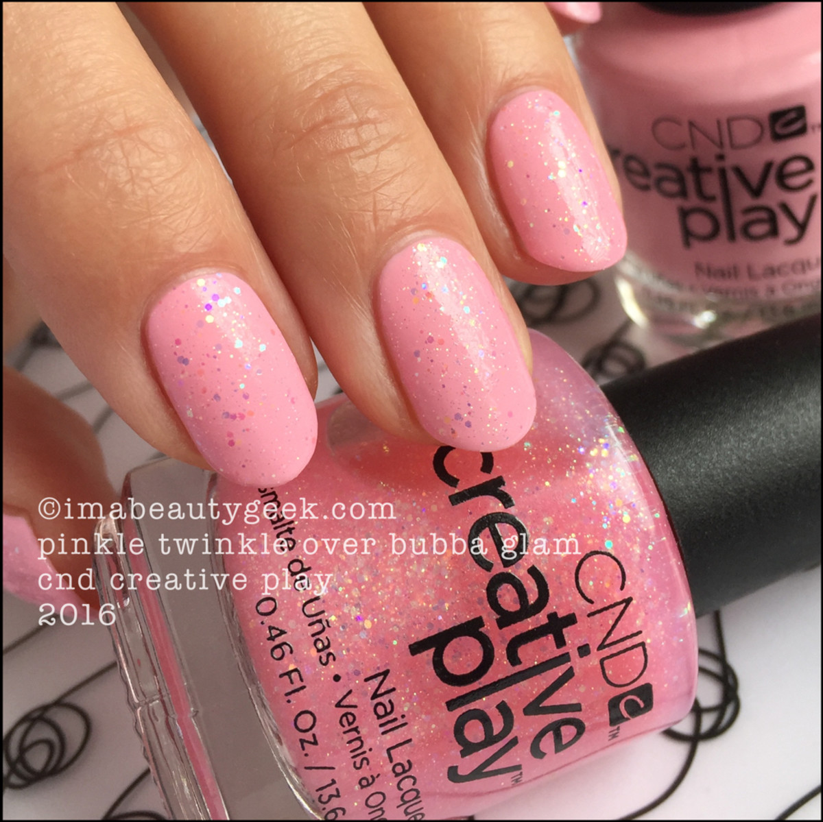 CND Creative Play Pinkle Twinkle over Bubba Glam_CND Creative Play Nail Polish Swatches