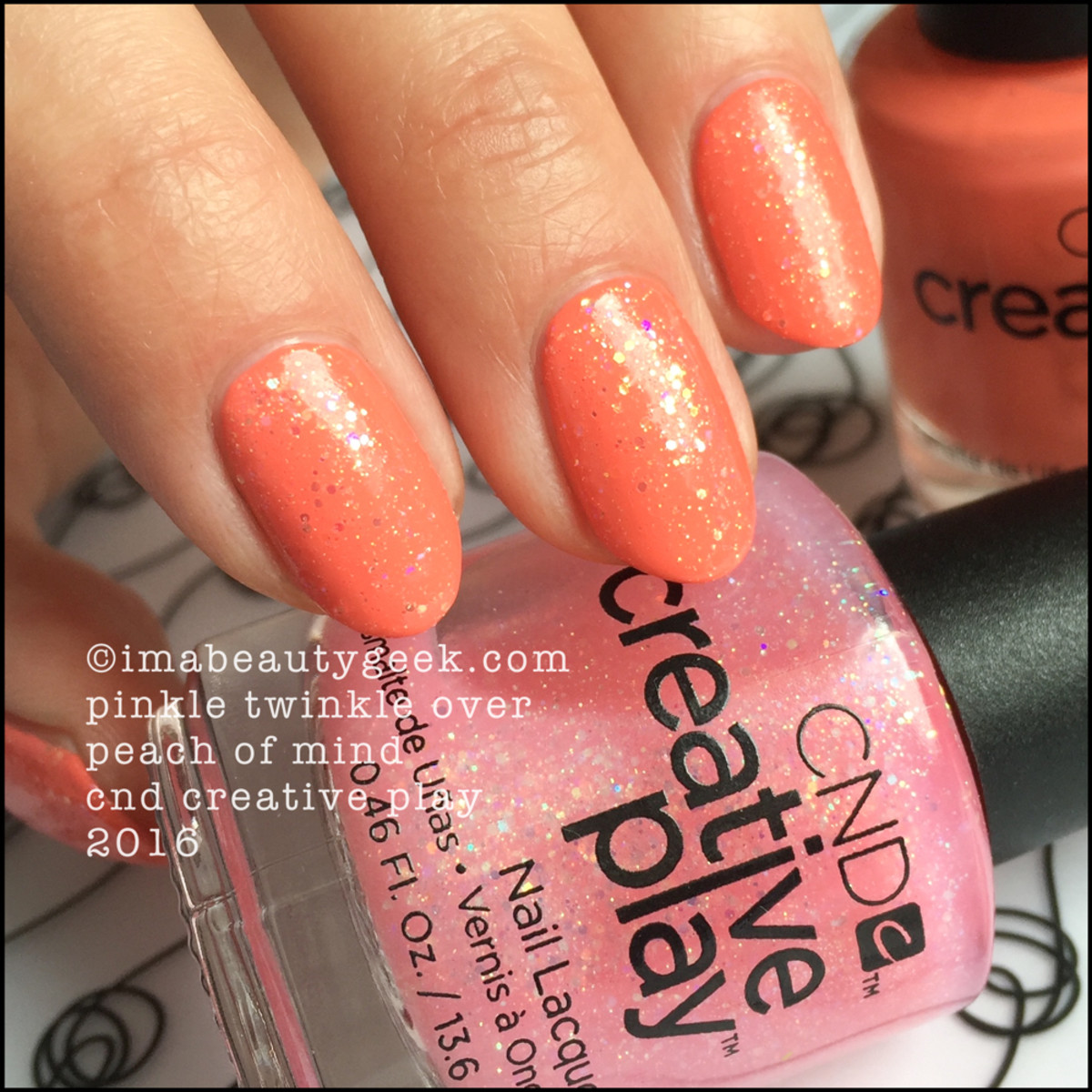 CND Creative Play Pinkle Twinkle over Peach of Mind_CND Creative Play Nail Polish Swatches