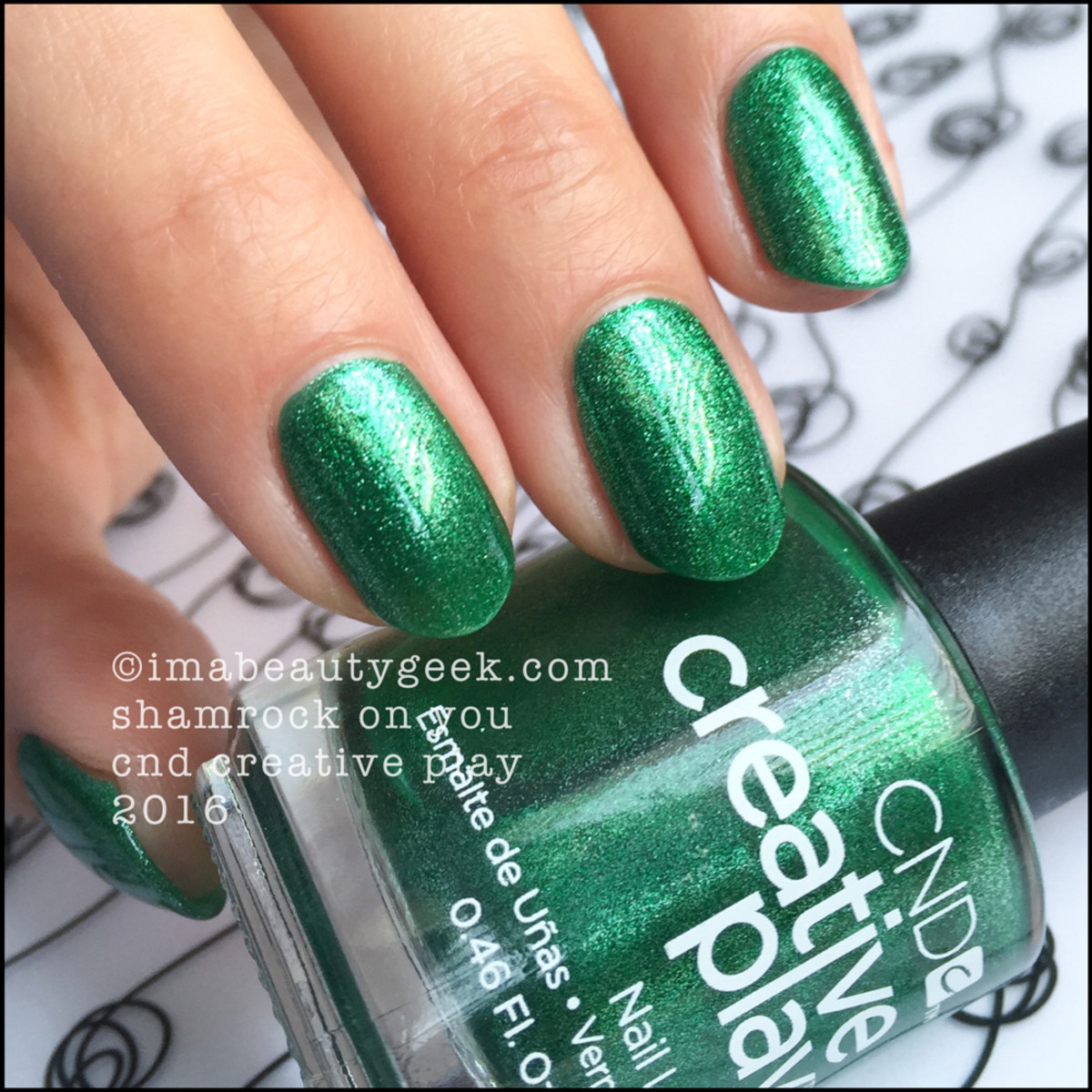 CND Creative Play Shamrock on You_CND Creative Play Nail Polish Swatches 2016