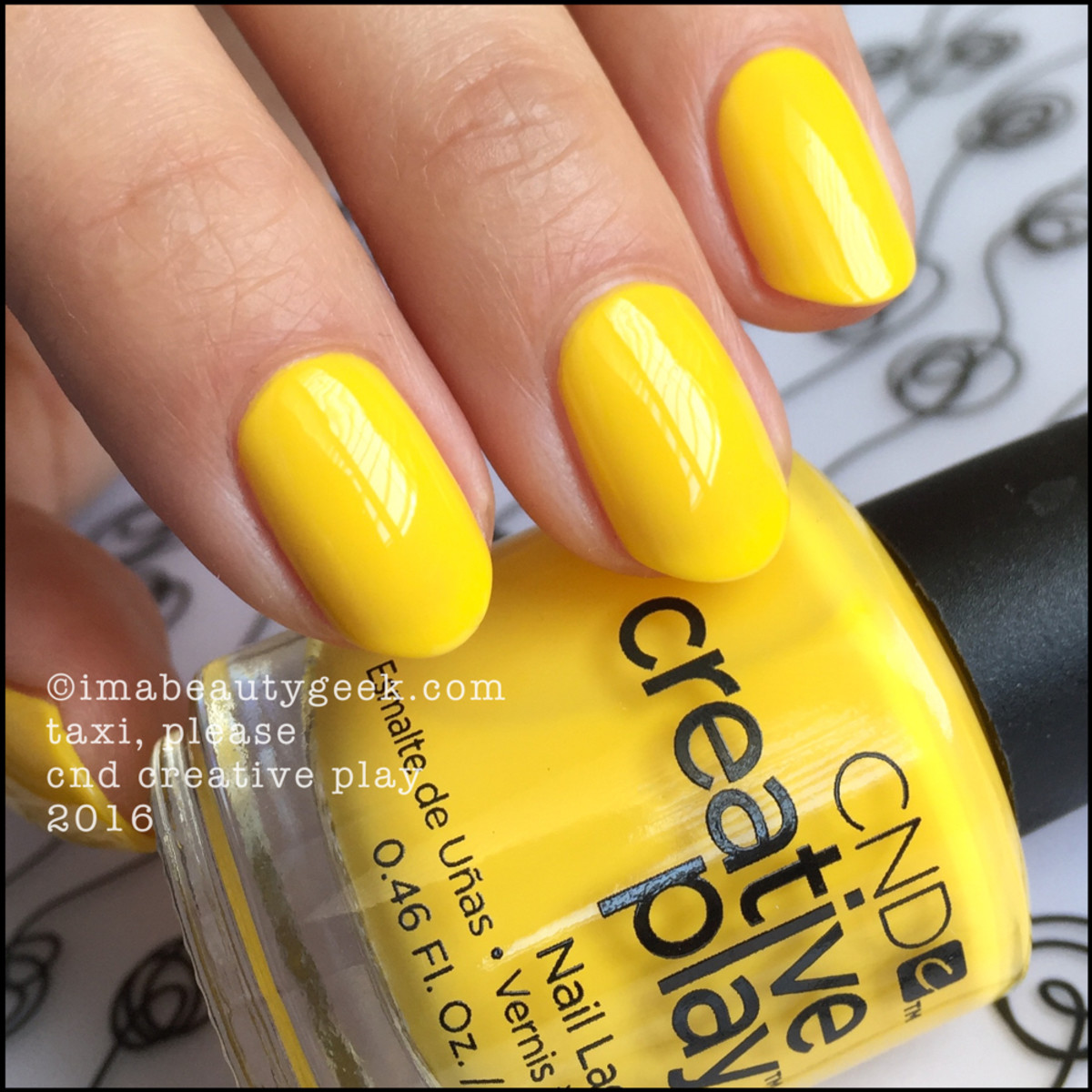 CND Creative Play Taxi Please_CND Creative Play Nail Polish Swatches
