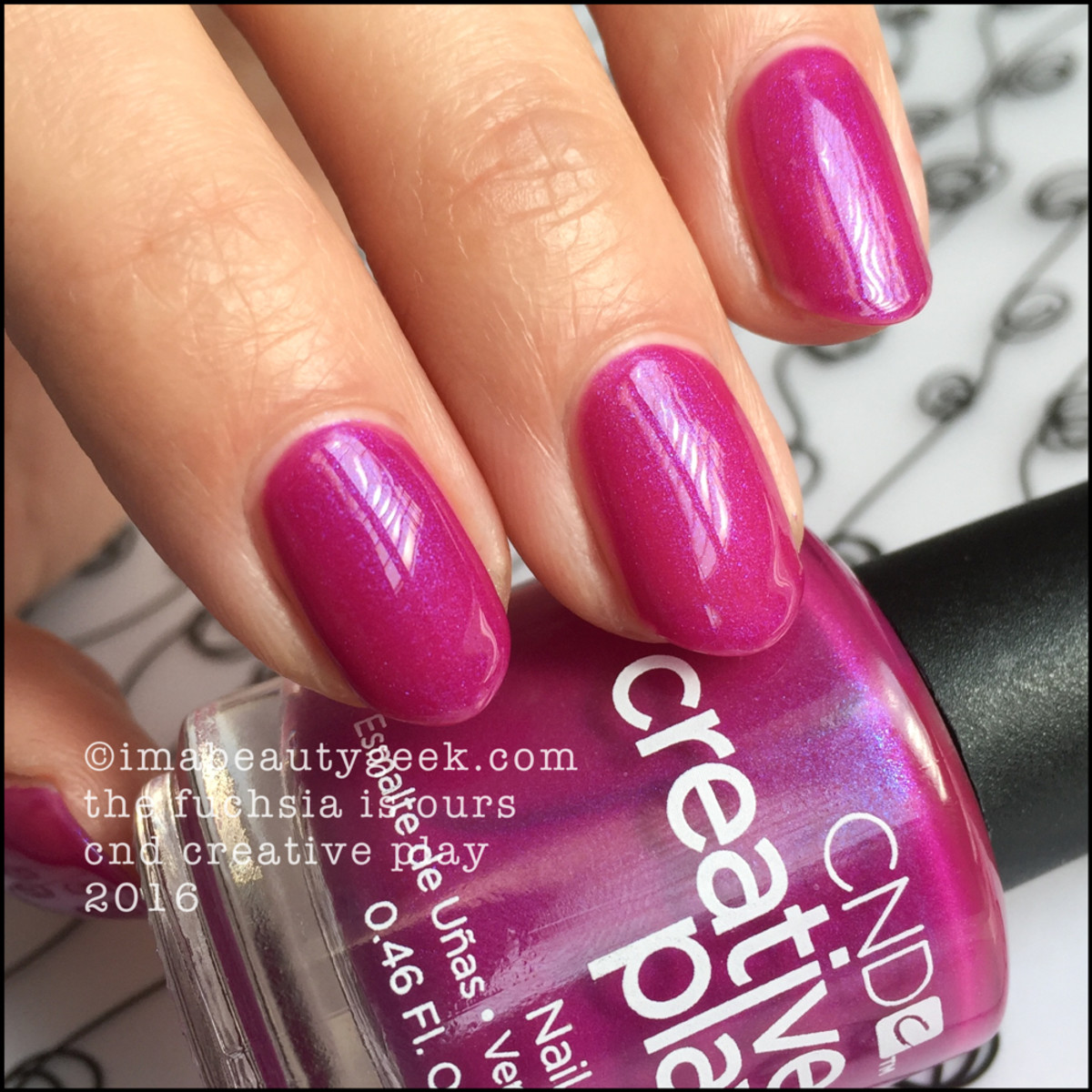 CND Creative Play The Fuchsia is Ours_CND Creative Play Nail Polish Swatches