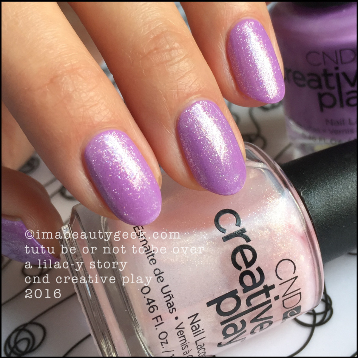 CND Creative Play Tutu Be or Not To Be over A Lilacy Story_CND Creative Play Nail Polish Swatches