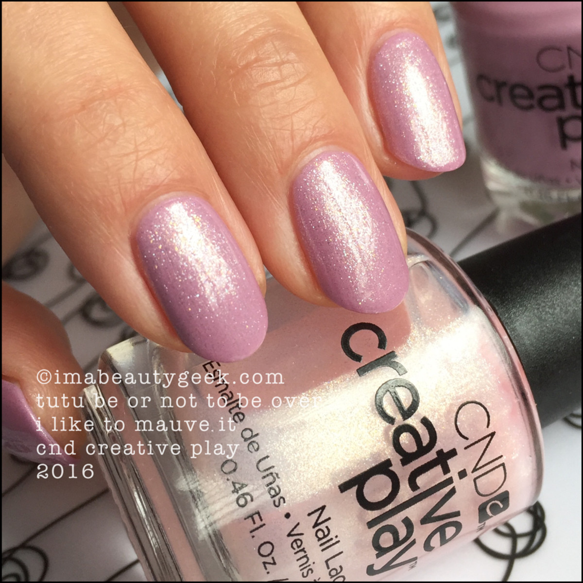 CND Creative Play Tutu Be Or Not To Be over I Like To Mauve It_CND Creative Play Swatches