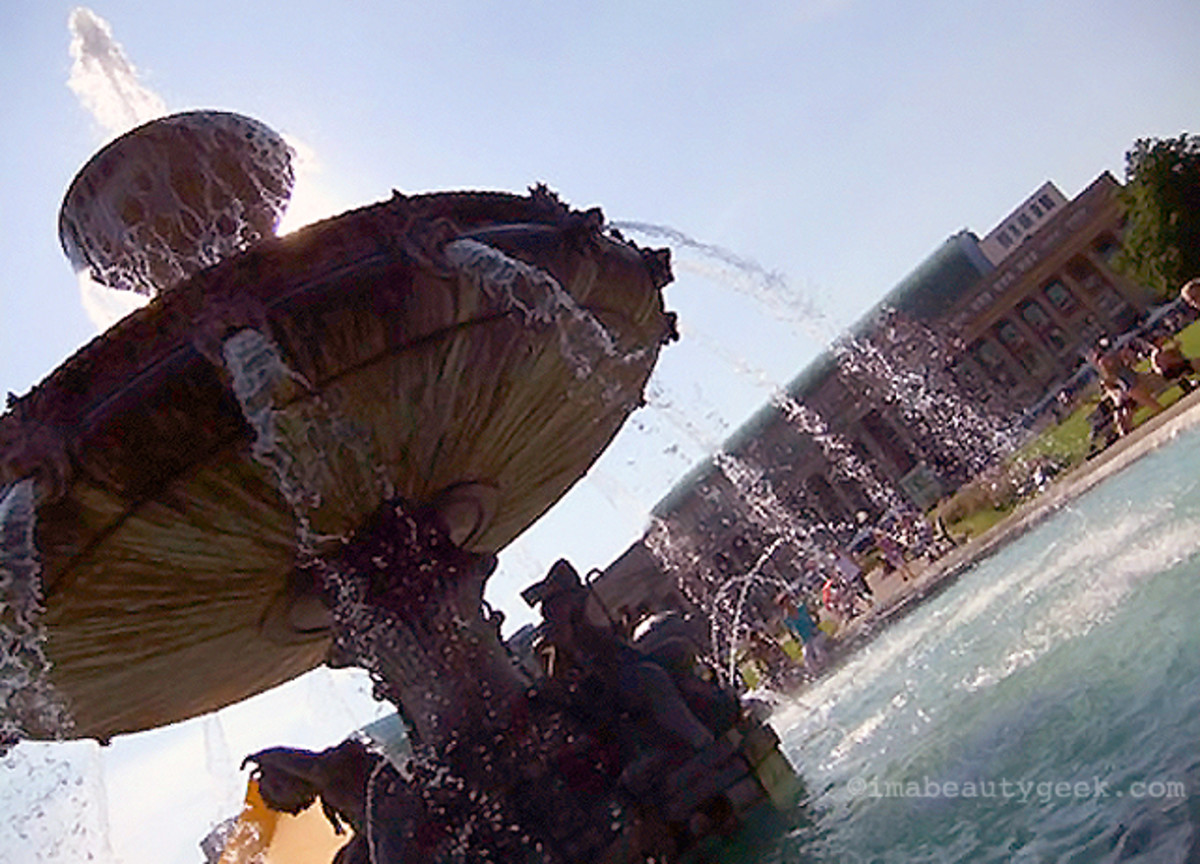 An hour in a massive, wonderfully cool fountain in Germany is one way to beat the heat.