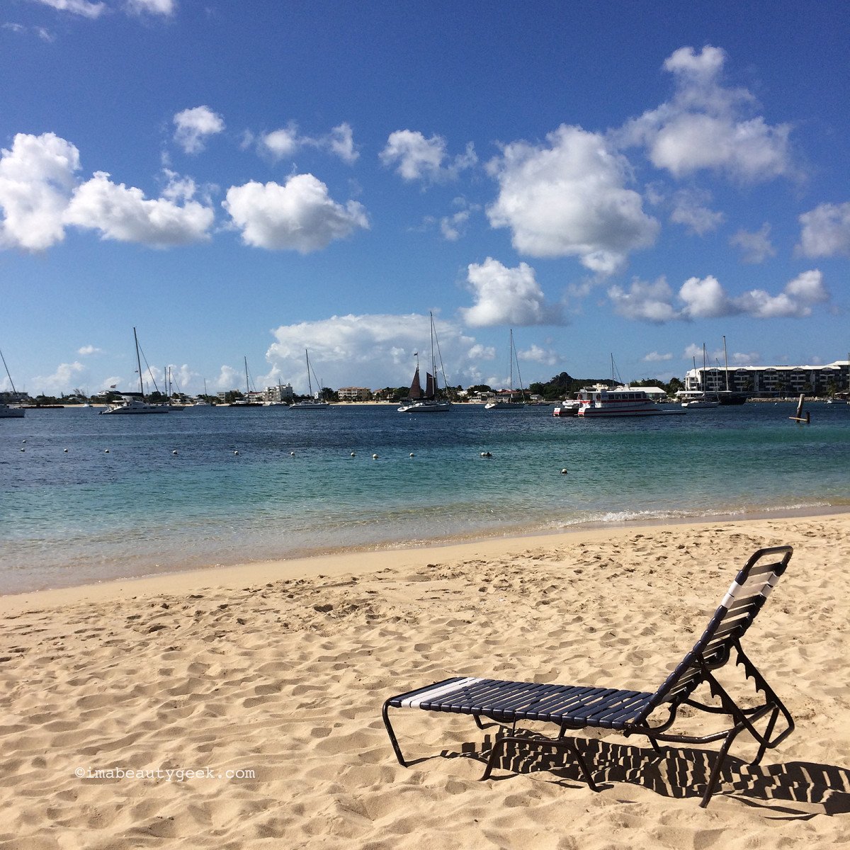 melty weather at Simpson Bay in St. Maarten