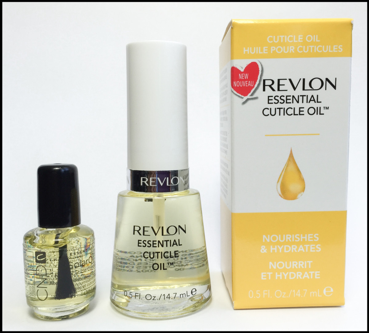 Revlon Essential Cuticle Oil vs CND Solar Oil