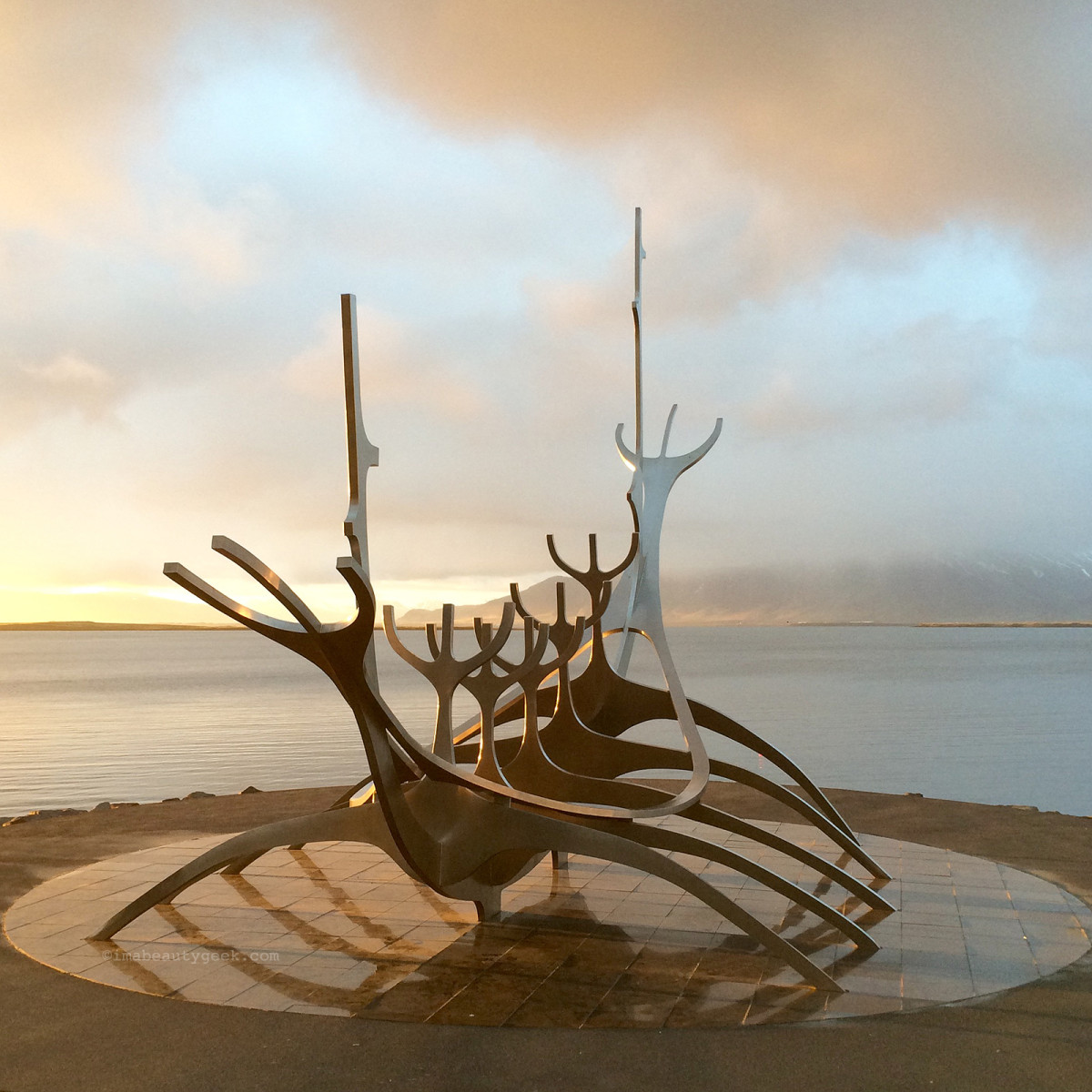Sòlfar – The Sun Voyager sculpture in Reykjavik, Iceland