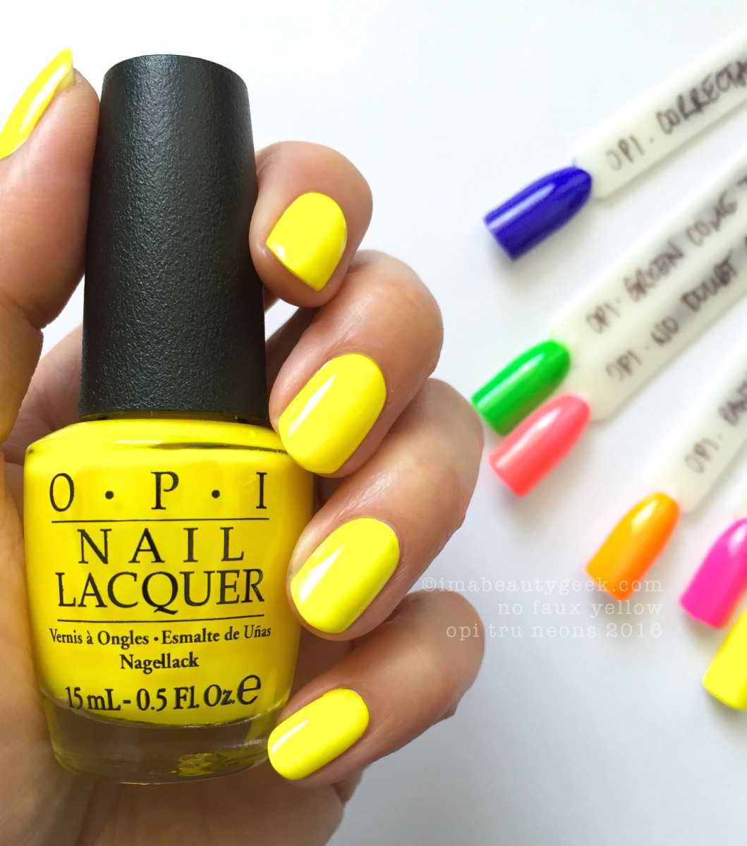 OPI Tru Neons 2016 Summer_OPI No Faux Yellow Neon 2016