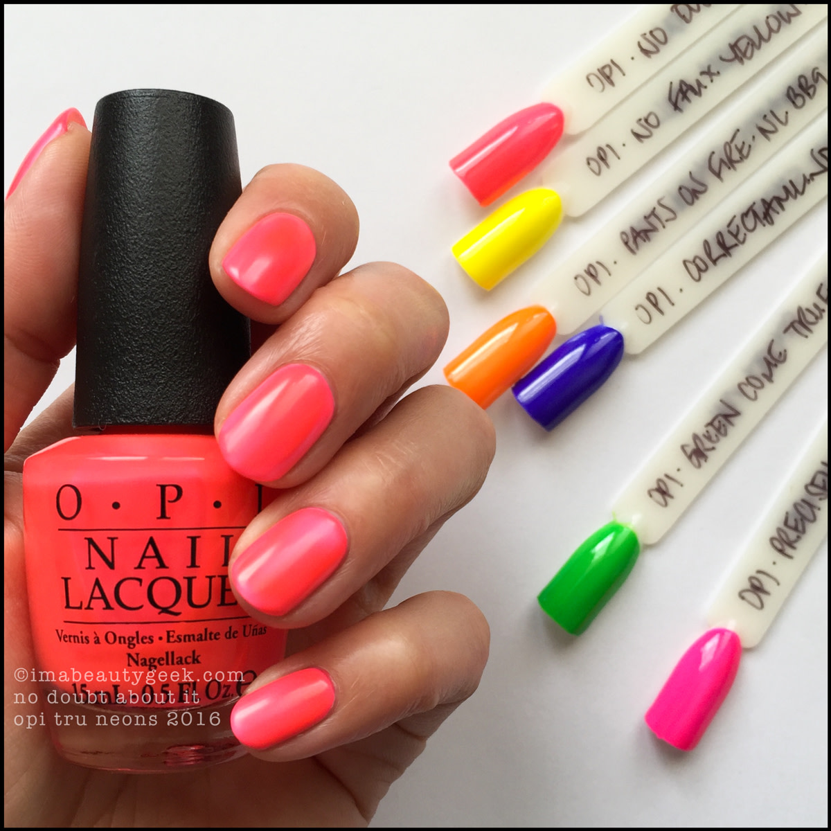 OPI No Doubt About It_OPI Tru Neons Summer 2016 Swatches Review