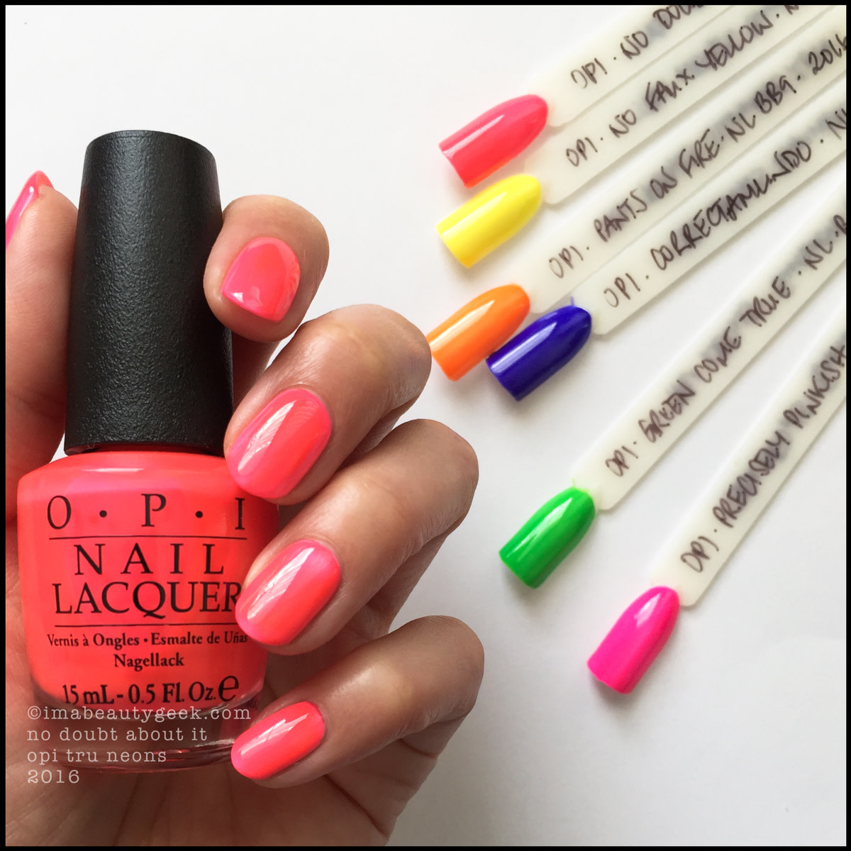 OPI No Doubt About It_OPI Neons Summer 2016 Swatches Review