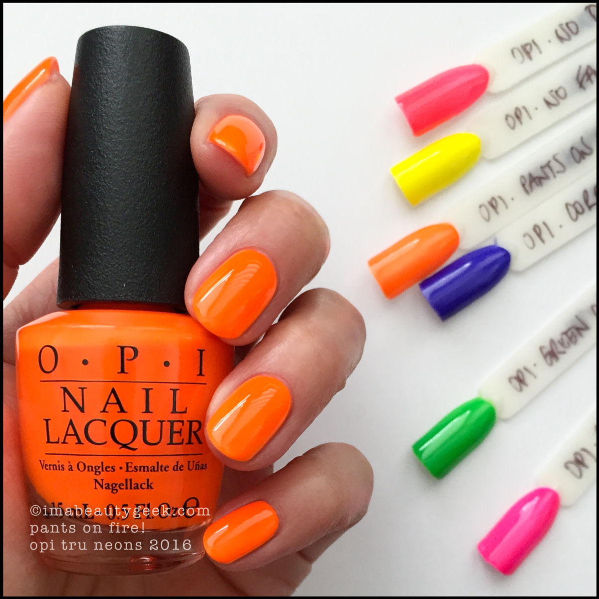 OPI Pants on Fire_OPI Neons 2016 Swatches Review