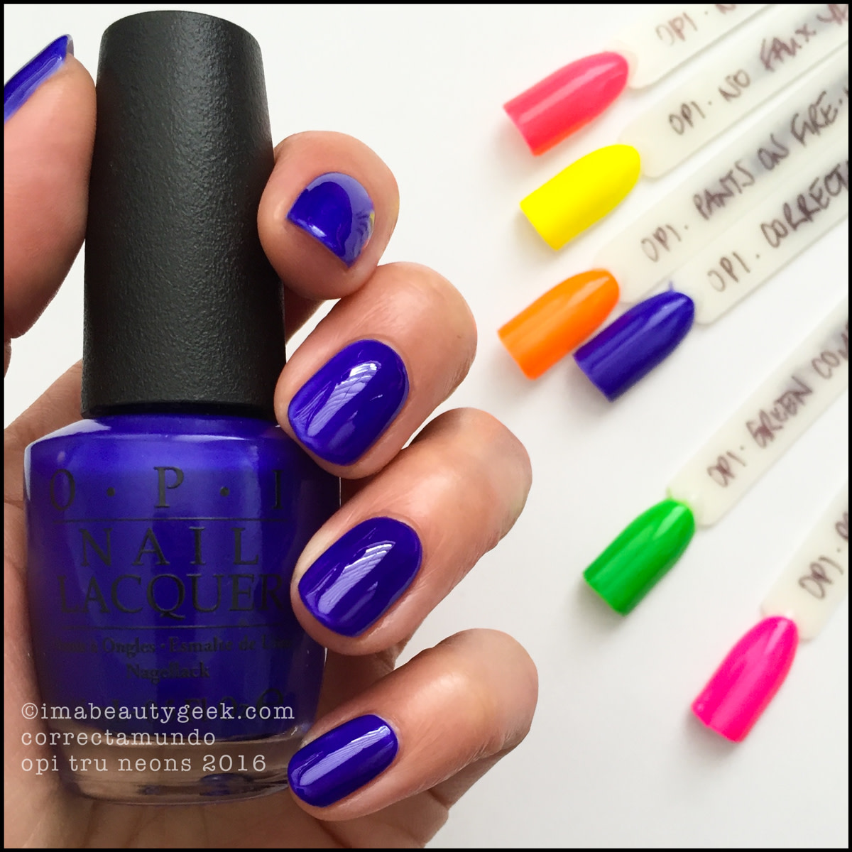 OPI Correctamundo_OPI Tru Neons 2016 Collection Swatches Review