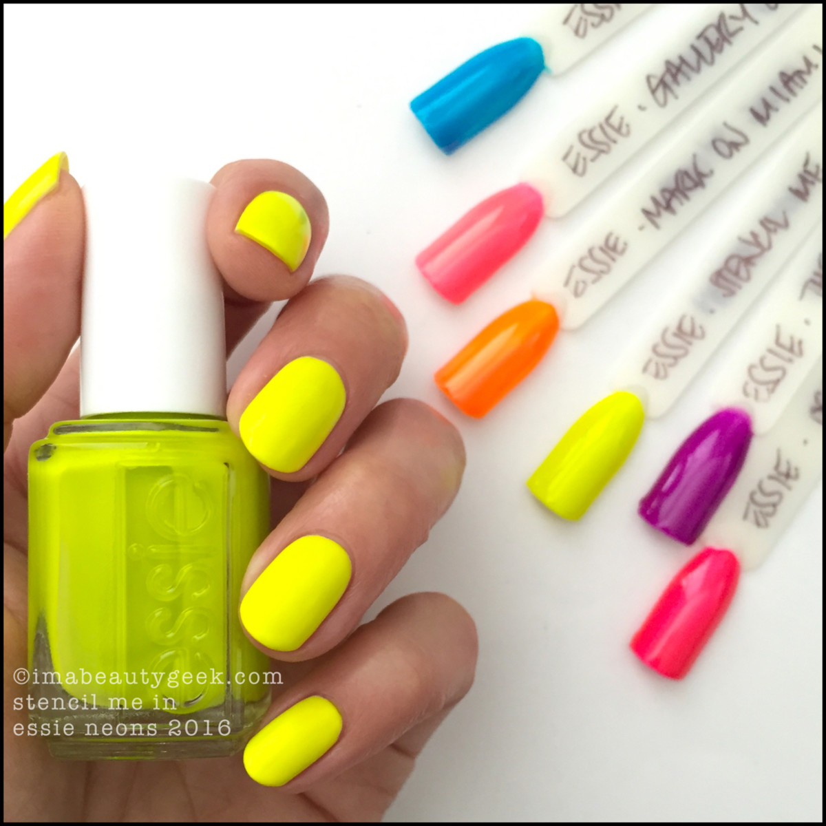 Essie Stencil Me In_Essie Neons 2016 Collection Swatches Review
