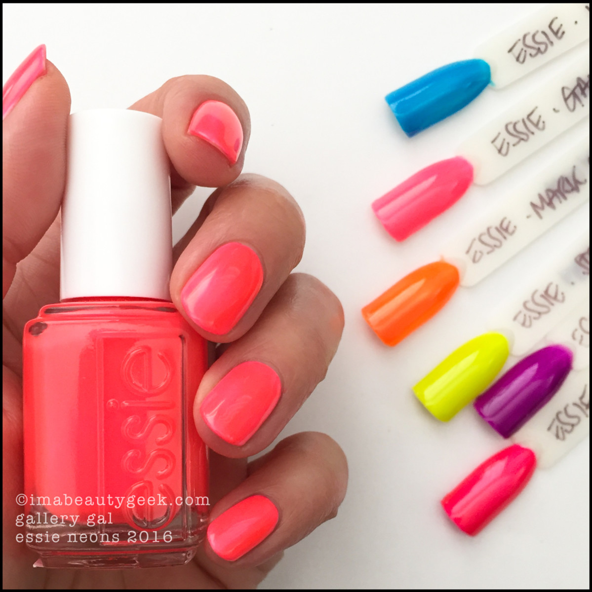 Essie Gallery Gal_Essie Neons 2016 Collection Swatches Review