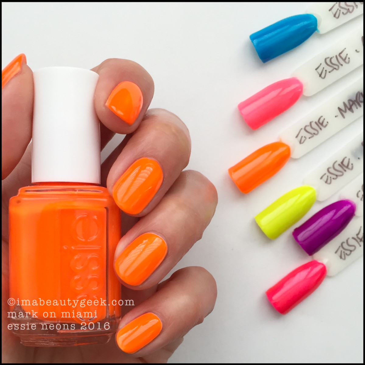 Essie Mark on Miami_Essie Neons 2016 Collection Swatches Review