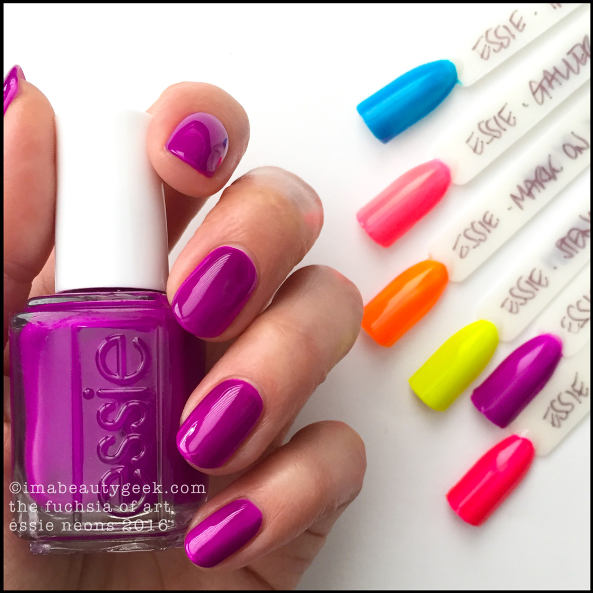 Essie The Fuchsia of Art_Essie Neons 2016 Collection Swatches Review