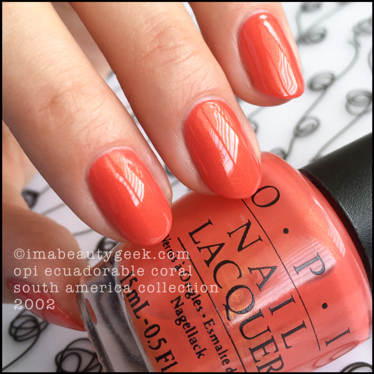 OPI Ecuadorable Coral_OPI South America Collection 2002 BLOPI