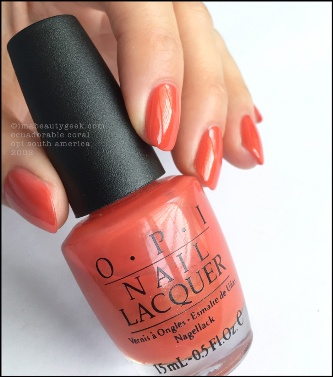 OPI Ecuadorable Coral South America Collection 2002 Black Label OPI