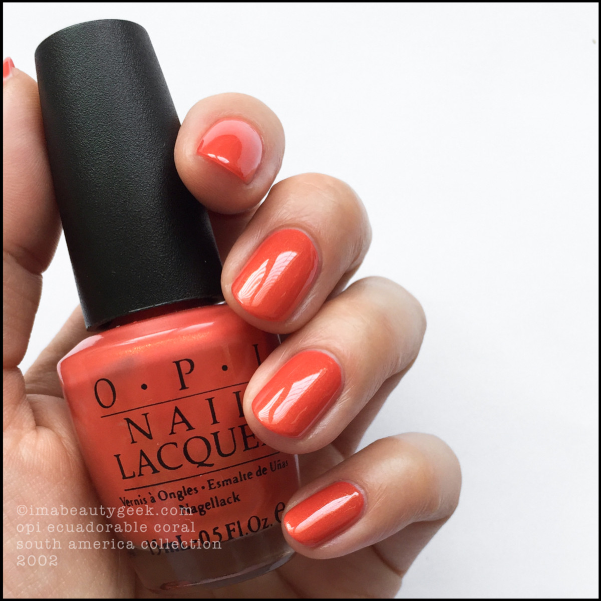 OPI Ecuadorable Coral 2002_OPI South America Collection 2002