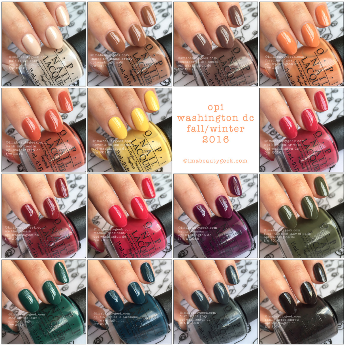 OPI Washington DC Collection 2016 Complete Manigeek Guide