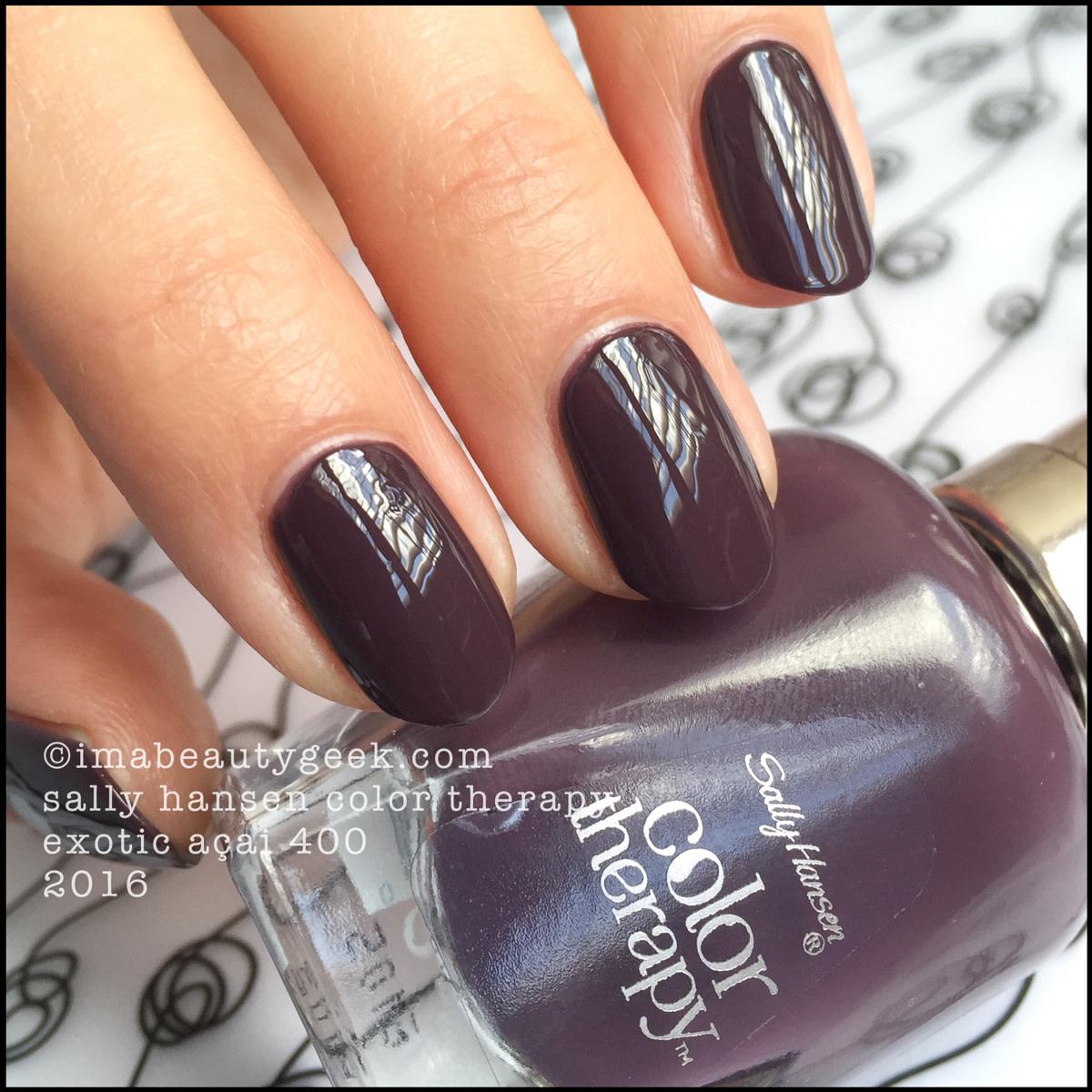 Sally Hansen Color Therapy Exotic Acai 400_Sally Hansen Color Therapy Swatches Review