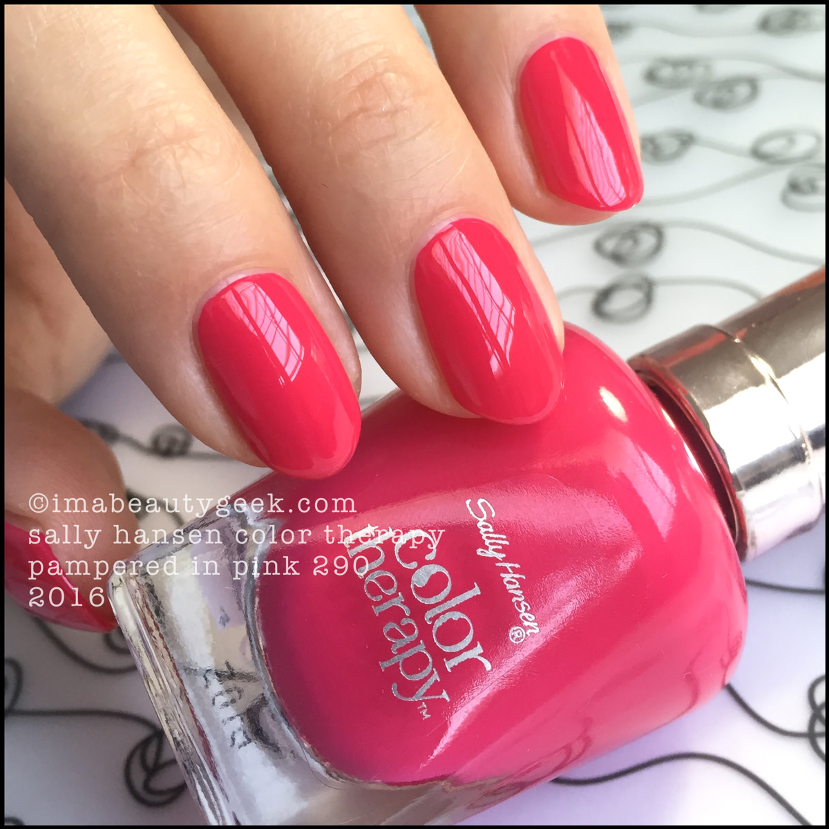 Sally Hansen Color Therapy Pampered in Pink_Sally Hansen Color Therapy Swatches Review
