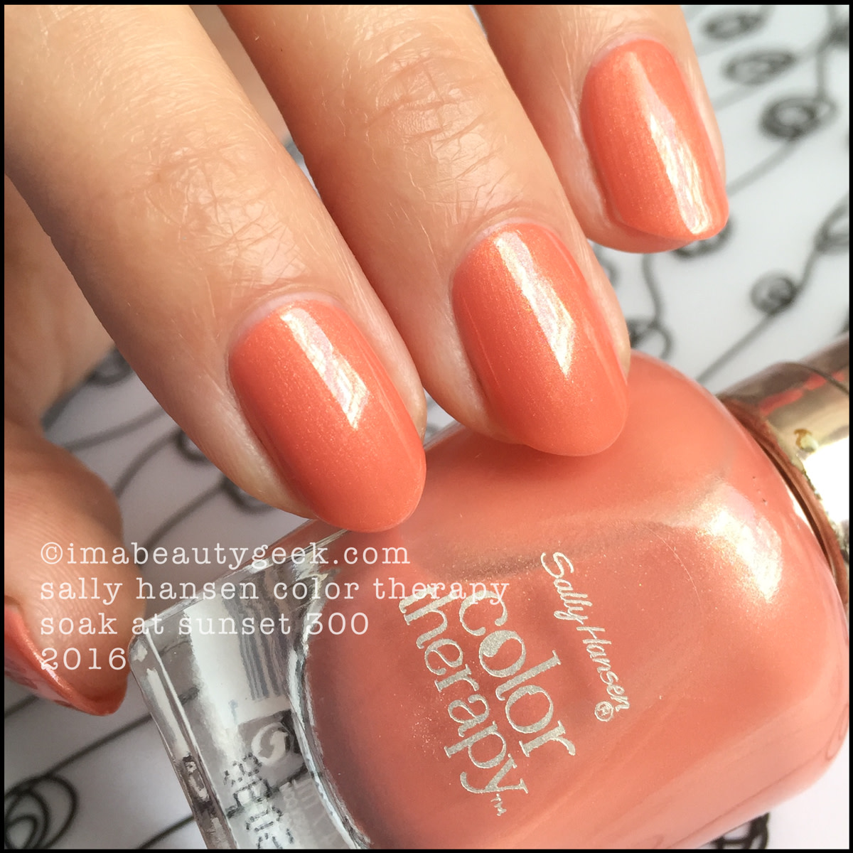 Sally Hansen Color Therapy Soak at Sunset 300_Sally Hansen Color Therapy Nail Polish Swatches Review