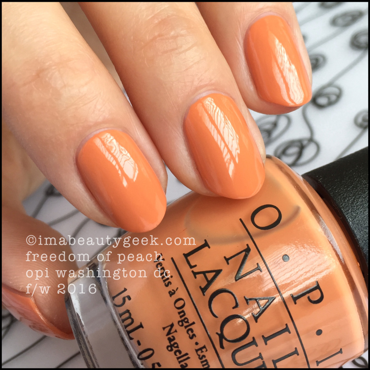 OPI Washington DC Collection Review Swatches_OPI Freedom of Peach