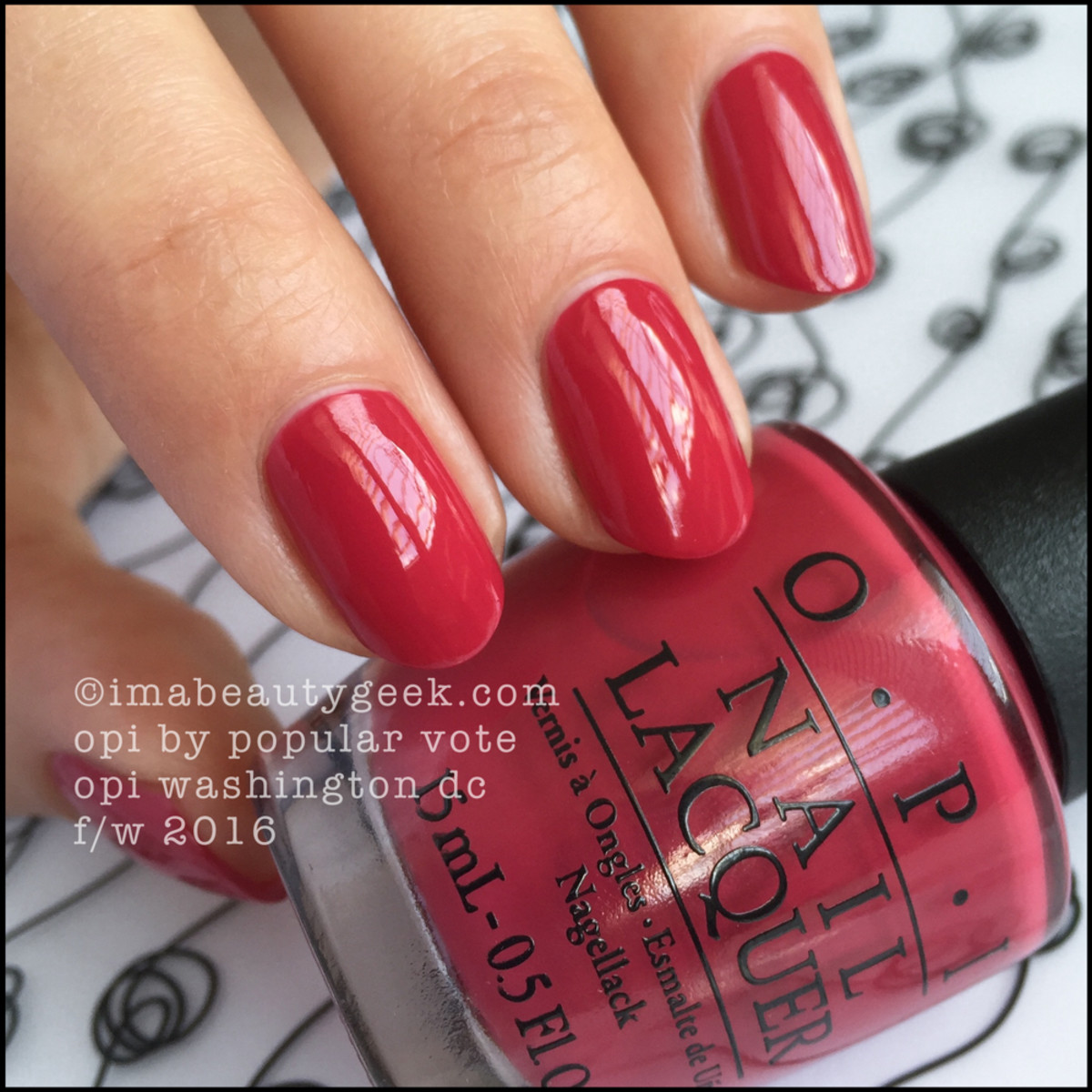OPI By Popular Vote_OPI Kerry Washington DC Collection Swatches Review