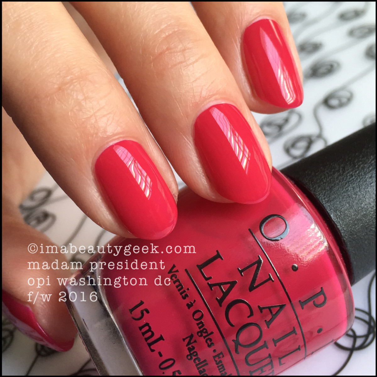 OPI Madam President_OPI Washington DC Collection Swatches Review Kerry Washington
