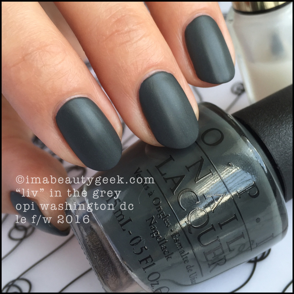 OPI Liv in the Grey_OPI Washington DC Collection 2016 Swatches Review