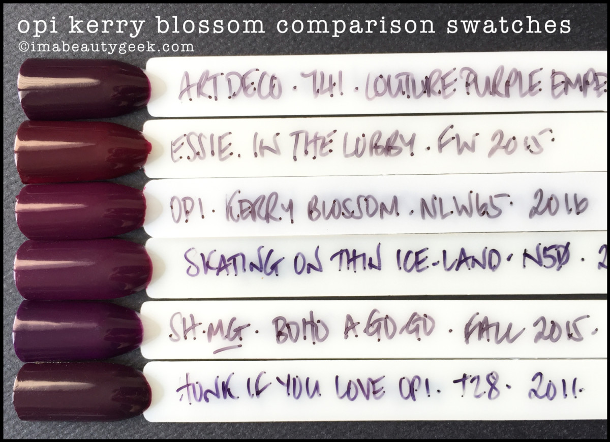 OPI Kerry Blossom Comparison Swatches Dupes_OPI Washington DC 2016 Kerry Washington Swatches