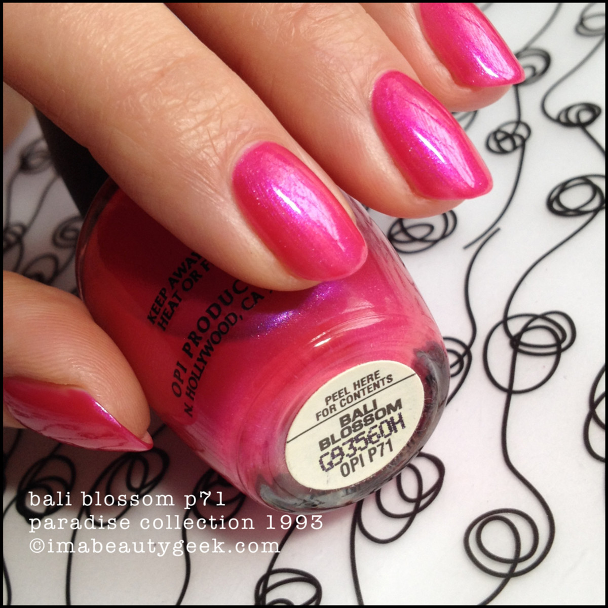 OPI Bali Blossom P71 Paradise Collection 1993 BLOPI